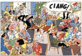 Lo starnuto di Tintin in seguito a un incubo su Chang