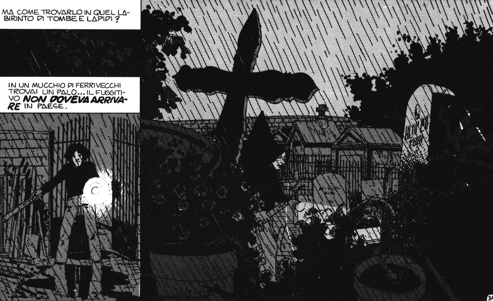 Un cimitero per aggiungere atmosfera