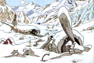 Il Rottame dell'aereo su cui volava Chang