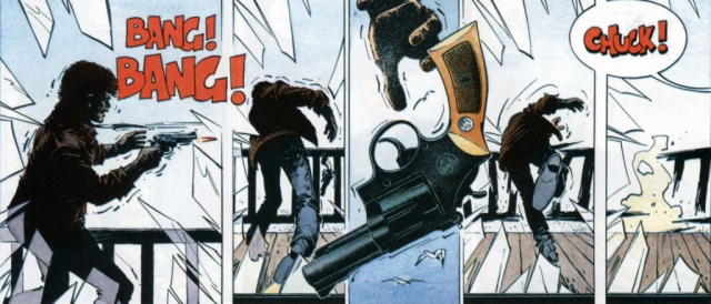 Dettaglio della pistola, ripreso in una sezione successiva