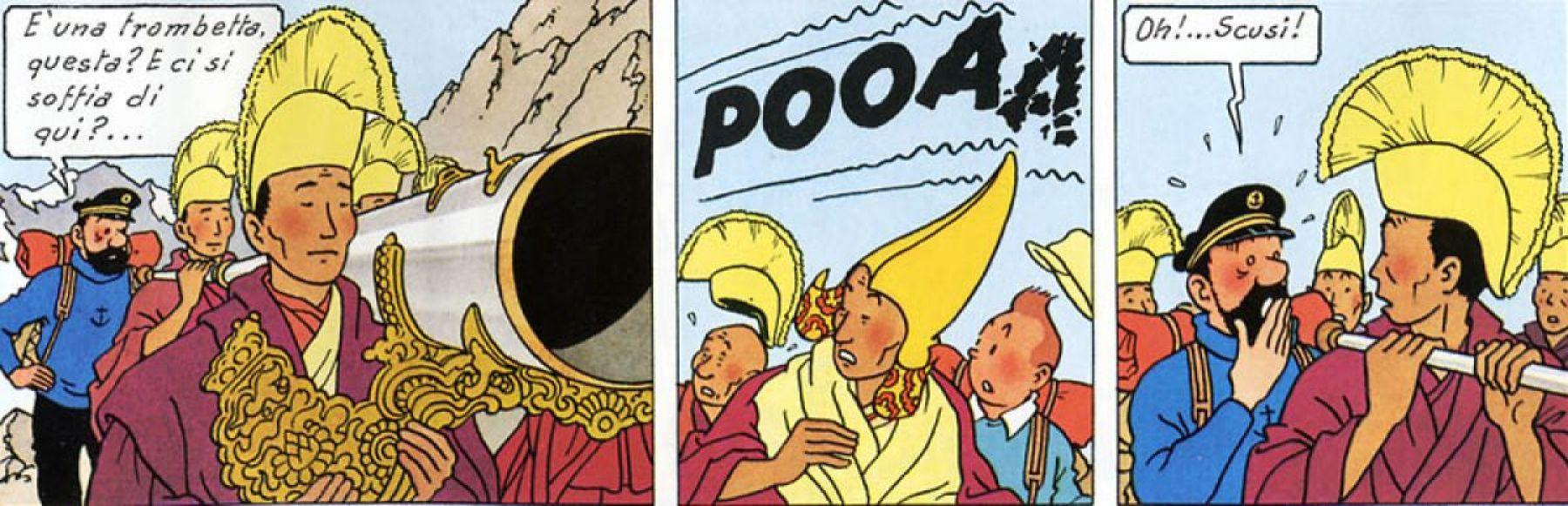 Haddock è perfetto per spezzare la tensione mistica di una processione tibetana