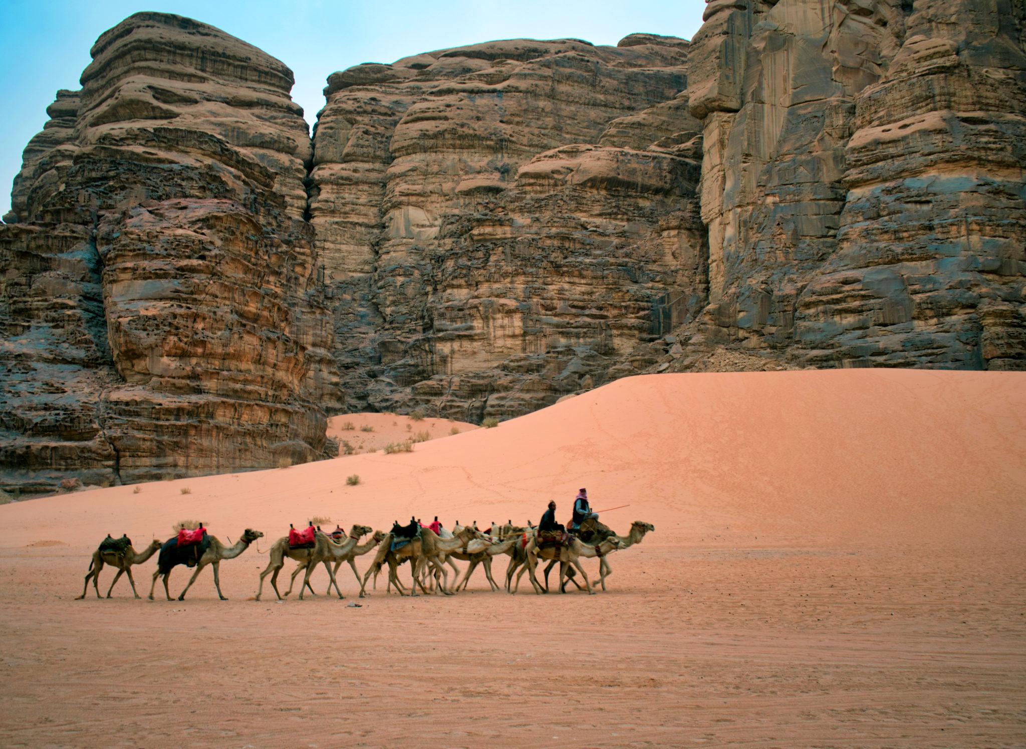 Una carovana nel deserto