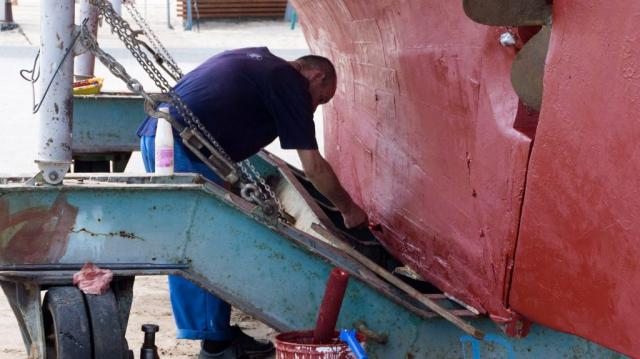 Riparazioni nel porto di Gdynia