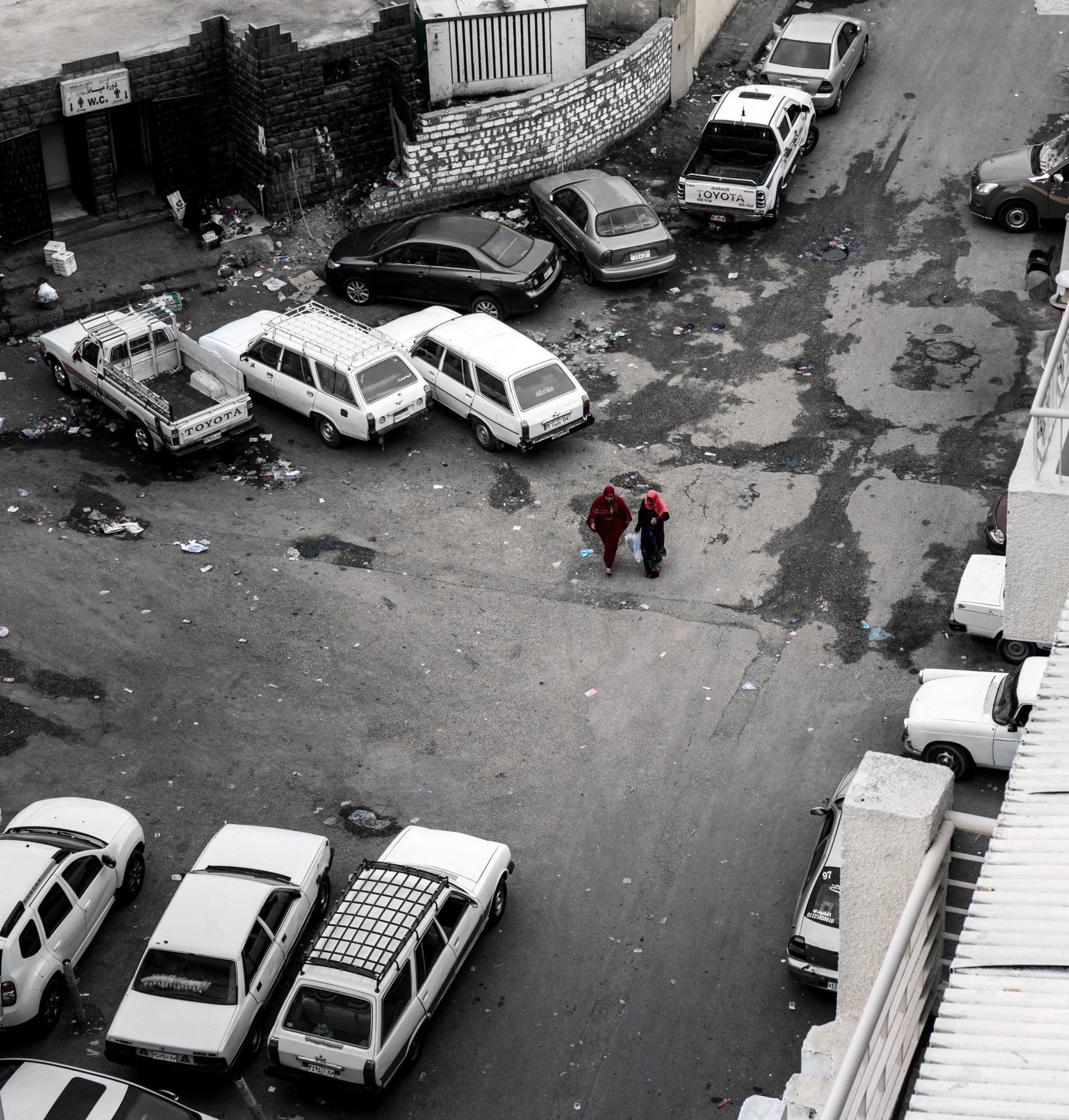 Una strada del mercato di Aswan