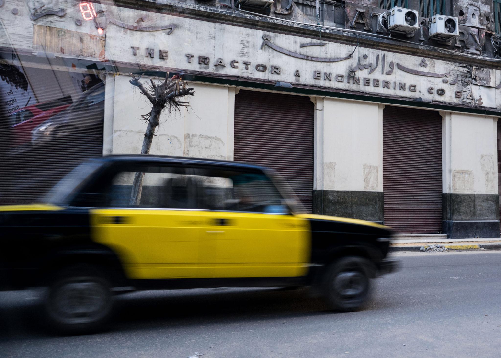 Una strada di Alessandria d'Egitto