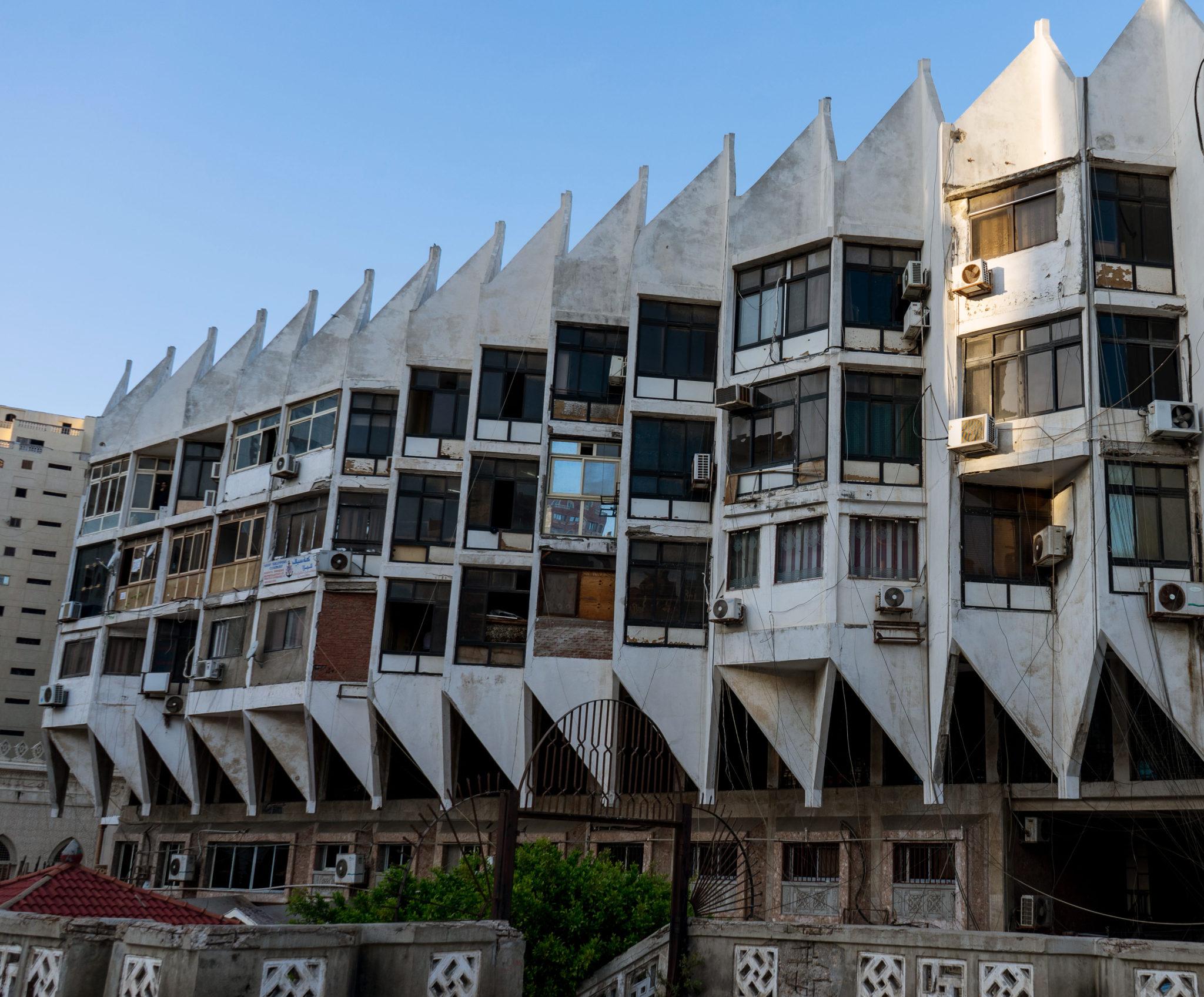 Uno degli edifici vicini alla Moschea Abu al-Abbas al-Mursi
