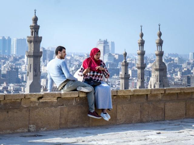 Sullo sfondo la Moschea Ibn Tulun