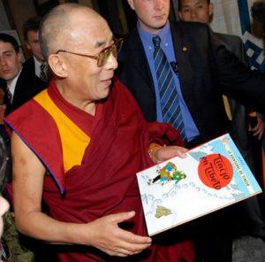 Il Dalai Lama con Tintin in Tibet