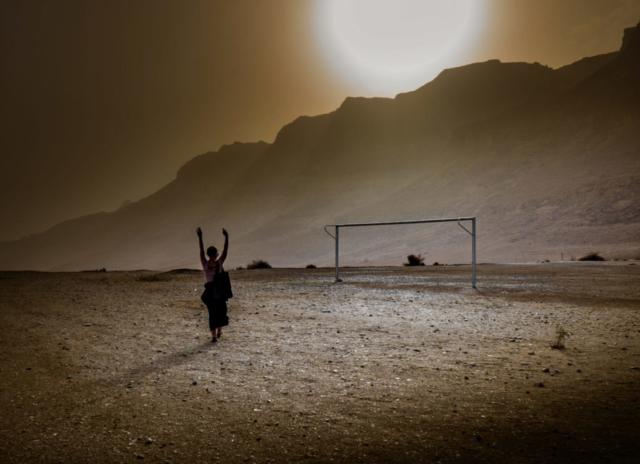 Campo da calcio a Ein Gedi