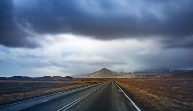 La strada per Eyjafjallajökull