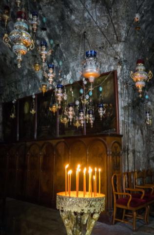 Candele nella Chiesa del Santo Sepolcro