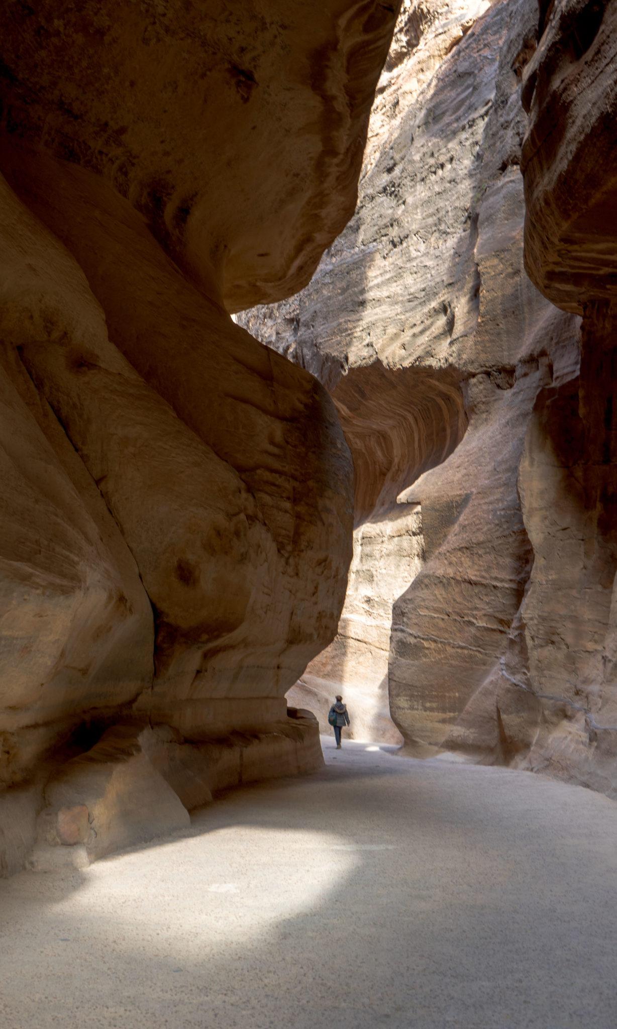 Una parte del Siq, l'entrata alla città di Petra