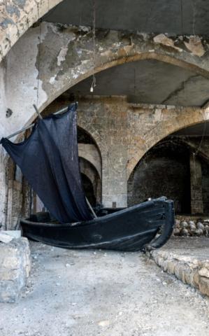 Una nave abbandonata a Yafo/Jaffa